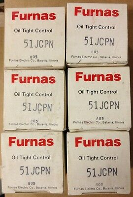 Furnas / Siemens  51Jcpn (Lot Of 6) New In Box Oil Tight Control Relay