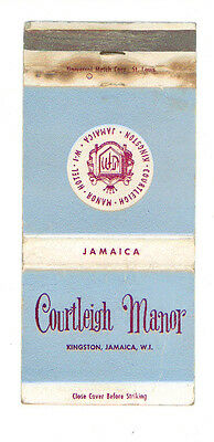 Courtleigh Manor Kingston Jamaica Hotel Matchbox Label Anni '50 America