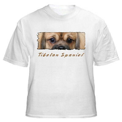 "Tibetan Spaniel   # 1  "" The Eyes Have It ""  Custom  T shirt"