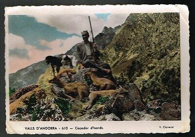 Cpsm Andorre Chasseur Avec Gibier