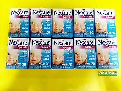 3M NEXCARE OPTICLUDE JUNIOR 1537 Orthoptic Eye Patch 10 Box/ 200 patches