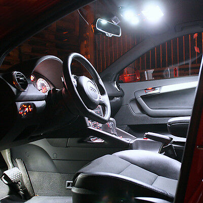 Renault Megane 2 Facelift CC Coupe Cabrio Innenraumbeleuchtung Set 7 LED weiß