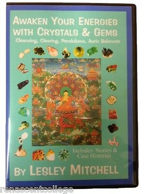 New AWAKEN YOUR ENERGIES WITH CRYSTAL AND GEM HEALING Book on Disc, Metaphysical