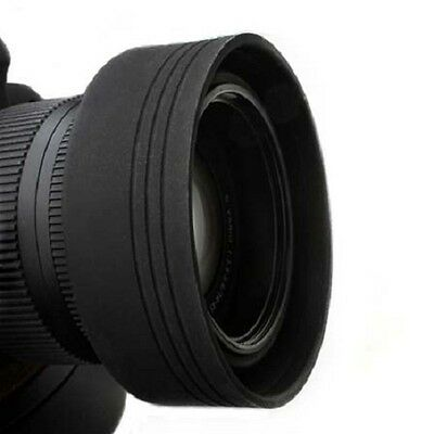 72mm 3 in 1 Collapsible Soft Rubber Lens Hood for Digital Camera DSLR New