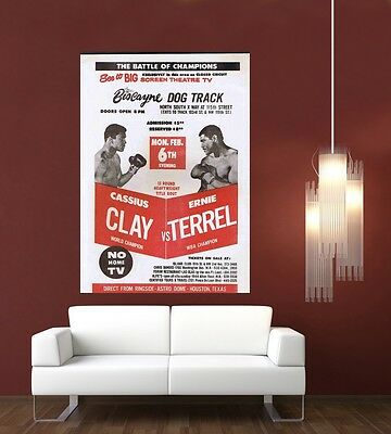 Vintage Ali (Cassius Clay) Boxing Flyer Giant 1 Piece  Wall Art Poster SP162