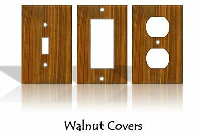 Walnut Wood Pattern Light Switch Covers Home Decor Outlet - Made from Plastic