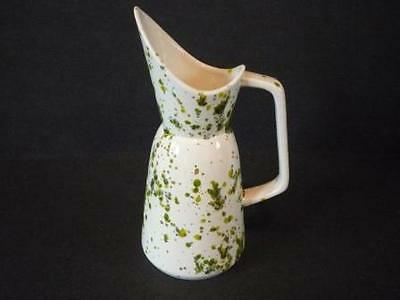 white with green splashes small pitcher
