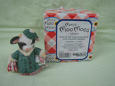 Enesco Mary Moo Moo-Shop Til The Cows Come Home- #651672