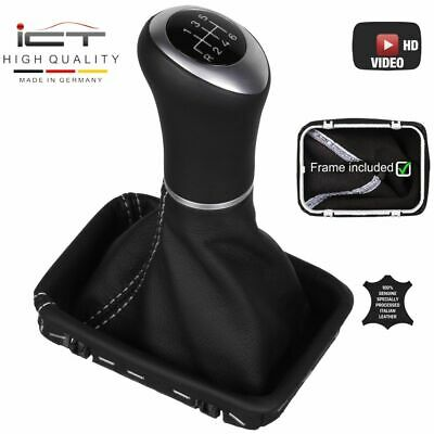 ICT gear shift knob frame Mercedes SLK R170 Facelift Crossfire stitch silver B64