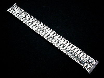 "Hawley-Rand Mens Vintage Watch Band 19mm 3/4"" Scissor Expansion Stainless Steel"
