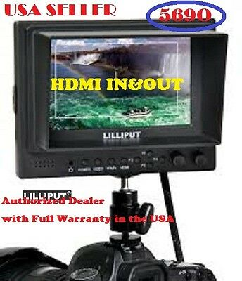 LILLIPUT 569O 5'' HD field monitor on DSLR HDMI In&Out+BNC VIDEO +Ypbpr +gifts