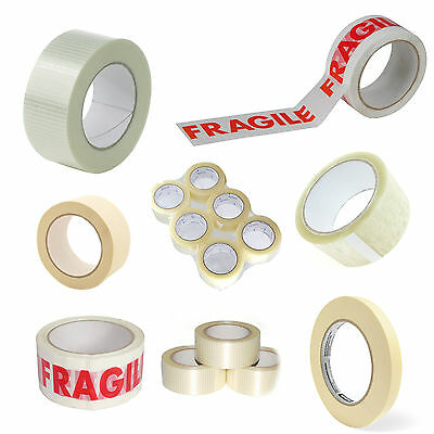 Rolls Of Tape - Clear - Brown - Masking - Fragile - Crossweave - (Packing Tapes)