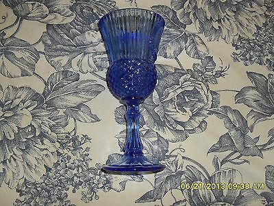 "Avon Fostoria ""Washington"" Blue Wine Goblet"