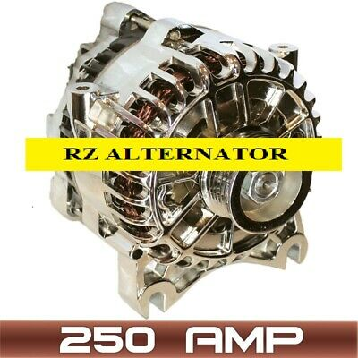 250AMP HIGH OUTPUT ALTERNATOR Fits CHROME FORD MUSTANG 4.6L 281CI V8 2005-2008