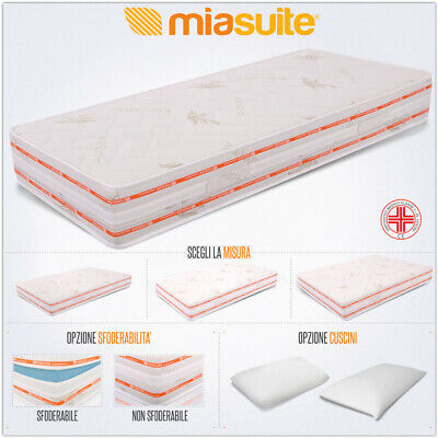 Materasso Top H 25 Cm In Poliuretano O Waterfoam E Memory 6 Cm Fodera Aloe Vera