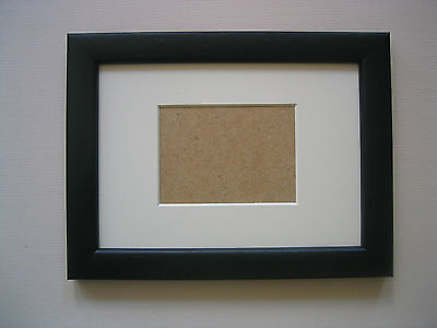 Black Aceo/School Picture 3.5X2.5 Inch Picture Frame With Ivory Mount