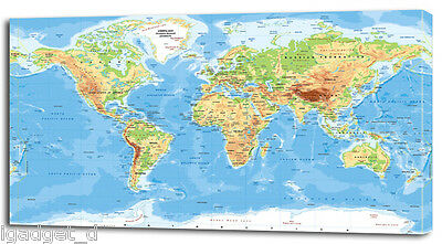 4 sizes classic world map canvas print home wall decor art giclee 4 sizes classic world map canvas print home wall decor art giclee bedroom gumiabroncs Choice Image