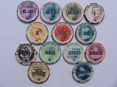 Old Havana Sample Set Keramik Poker Chips 13 Stück