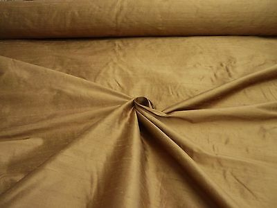 "Pure Silk Fabric Handloom Dupion 54""wide `cinnamon` By Half Mt Price From Roll"