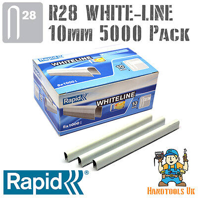 Rapid R28 10mm White Cable Staples 5000 -R28, Arrow T18, Rapesco CT45, Novus J19