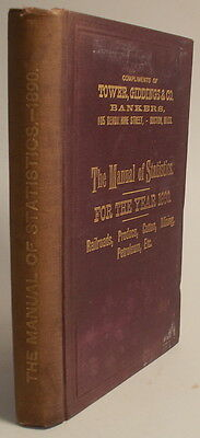 1890 Manual of Statistics Stock Exchange Hand-Book RAILROADS Mining Petroleum