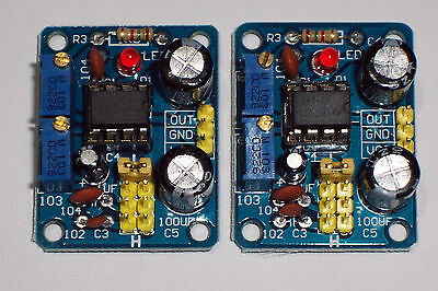 Usa! 2 Pcs Ne555 , Adjustable Frequency/Square Wave Generator Module , 5-15 Vdc