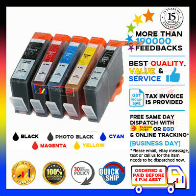 6x Ink Cartridge HP 564XL for Photosmart B109 C6375 B210 B209 B010 7510 Printer