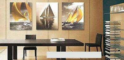 Free Shipping 3 Pcs Wall Mounted Wood Oil Painting Canvas Home Decor Set L-A143