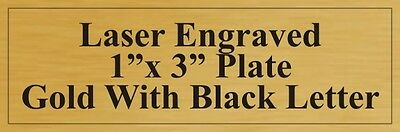"""Engraved Plate 1"""" x 3"""" Gold With Black"""