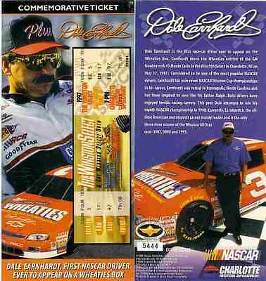 Dale Earnhardt In The Wheaties Car Commemorative Ticket-Only 10,000  Made