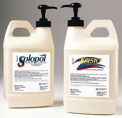 Stockhausen Kresto Hand Cleaner 1/2 Gallon Pump Top FREE SAME DAY SHIPPING