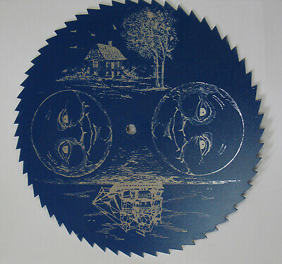 Blue & Silver Grandfather Clock Moon Dial Replacement Parts Steampunk (C-570)