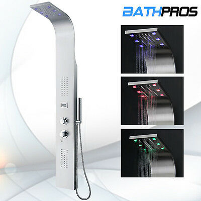 Stainless Steel Shower Massage Panel & Pressure Balance Shower Tower BATH 8890