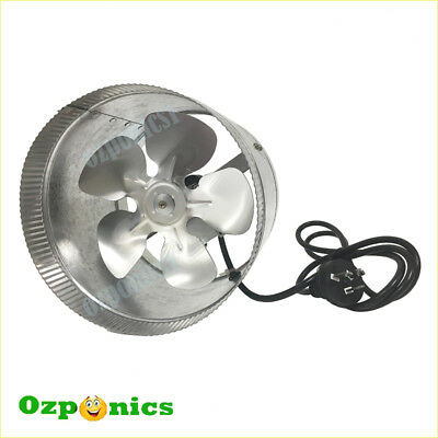 "HYDROPONICS 6""/150MM INLINE EXHAUST DUCT FAN 25W Metal Blade For Ventilation"