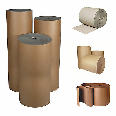 Corrugated Cardboard Paper - 75M Full Rolls - Card Wrap - Strong Sheets