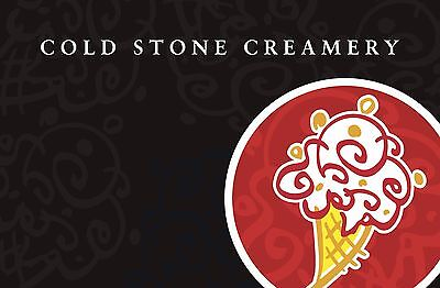 Cold Stone Creamery Gift Card $25/ $50