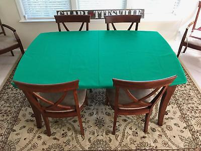 CARD table covers - Poker Felt Tablecloth for round or square table.  Elastic bl