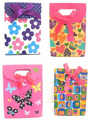 Pack Of 12 Small Fold Flat Gift Boxes Bags Velcro Fastening Wholesale Bulk Buy