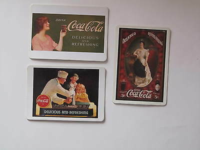 Vintage Coca Cola Coke  Girl Magnetic Post Cards - Set Of 3 - New