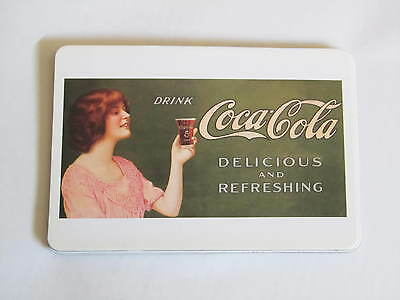 Vintage Coca Cola Coke  Girl Magnetic Post Card New