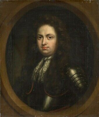 Huge GAY oil painting nude male portrait strong man standing in bedroom 36""