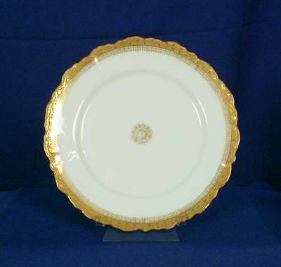 Limoges France Lewis Strauss and Sons LSS35 Pattern White Luncheon Plate