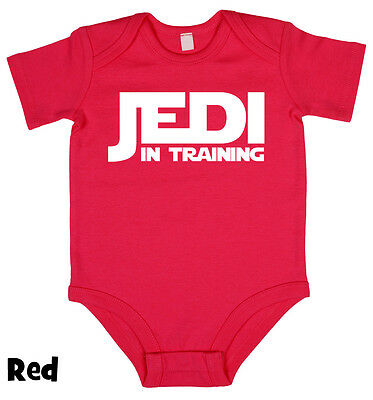 Jedi In Training Star Wars Baby grow vest Boy Girl Baby Clothes Gift Present