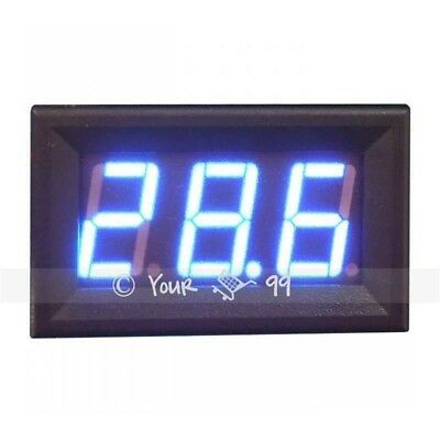 Mini BLUE LED DC Amp Current Meter Ammeter 0-100A UK SALE New