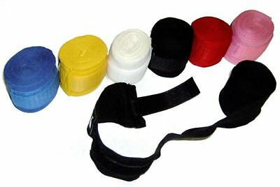 Pro Boxing Hand Wraps Bandage Inner Punch Bag Gloves Wrist Palm Straps Cotton