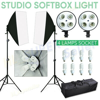 2200W Photo Studio Soft Box Continuous Light Video Softbox Lighting Stand Kit