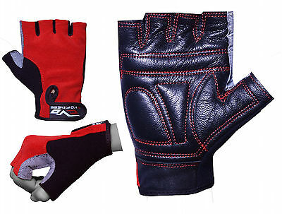 EVO Fitness Pure Leather Gym Glove Weightlifting Cycling wheelchair Bodybuilding