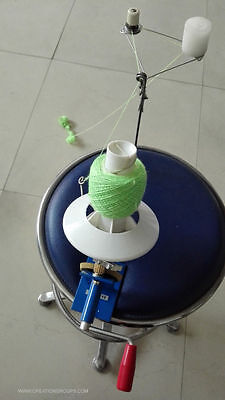 New Metal Wool/Yarn/String/Fiber Ball Winder+Wax+Stand+Tension -10 oz Yarn Ball