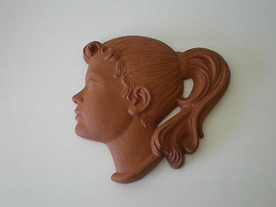 Vintage German Ceramic Wall Mask / Marzi & Remy Germany