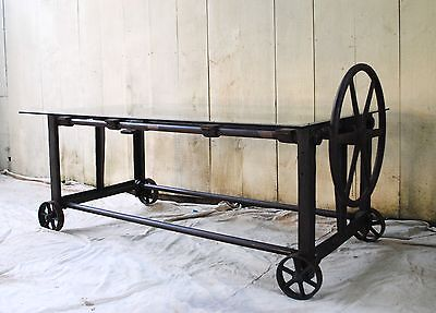 Stunning Vintage/Antique Industrial Cast Iron Table Machine Age